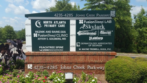 Johns Creek Tech Park Monument Sign