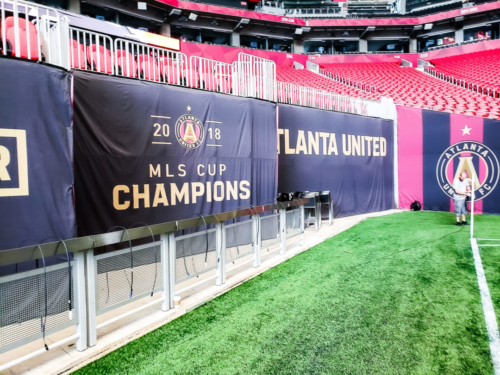 Atlanta United Decorative Banners @ Mercedes Benz Stadium