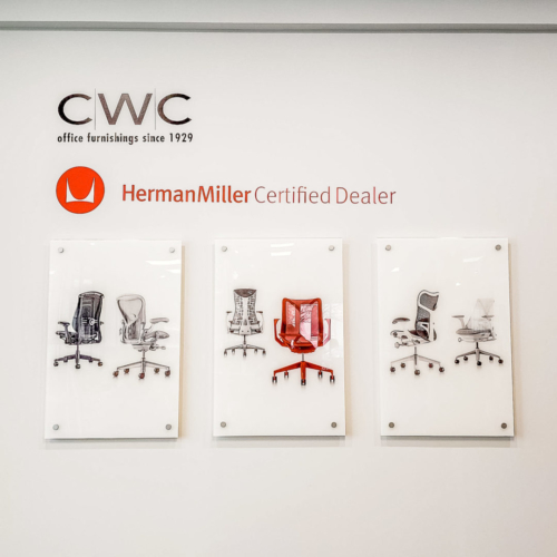 CWC Wall Branding with Custom Cut Logos