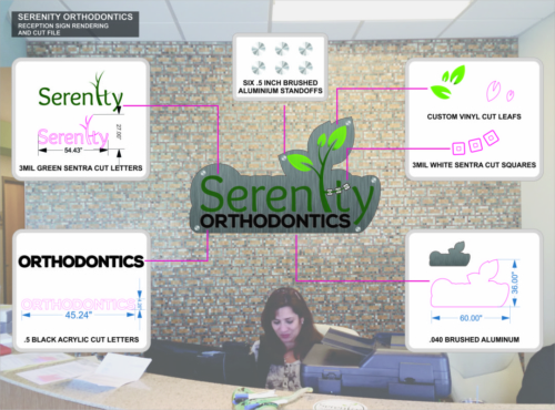 Serenity Orthodontics Reception Concept Design