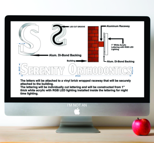 Serenity Channel Letter Concept Design @ Vickery Village