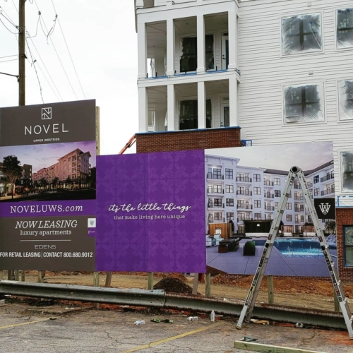 2020 Novel Upper West Side - S.E. Corner Now Leasing Wall