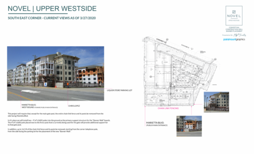 NOVEL UPPER WESTSIDE - CONCEPTUAL S.E. CORNER WALL BUILD OUT & POLE PLACEMENT